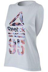 Reebok Blanco de Mujer modelo 95 MARBLE MUSCLE TANK Deportivo Bividis