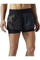 Reebok Negro /Gris de Mujer modelo 2-IN-1 SHORT Shorts Deportivo