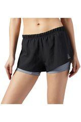 Reebok Negro /Gris de Mujer modelo RE 2-IN-1 SHORT Shorts Deportivo