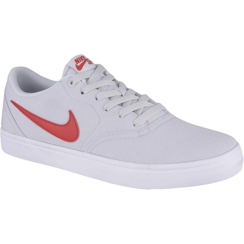 738af7ae0a670 Zapatilla de Hombre Nike Blanco   Rojo sb check solar cnvs ...