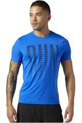Reebok Azul de Hombre modelo OSR SS AC TEE Deportivo Polos