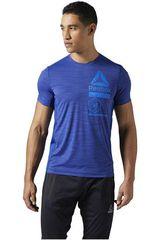 Reebok Azul de Hombre modelo ACTVCHL ZONED GRPHC TEE Deportivo Polos