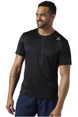 Reebok Negro de Hombre modelo RUN SS TEE Polos Deportivo