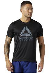 Reebok Negro /gris de Hombre modelo RUN GRAPHIC TEE Deportivo Polos