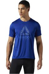 Reebok Azul / Celeste de Hombre modelo RUN GRAPHIC TEE Deportivo Polos