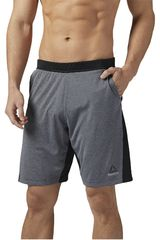 Reebok Plomo / Negro de Hombre modelo SPEEDWICK KNIT SHORT Deportivo Shorts