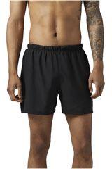 Reebok Negro de Hombre modelo RE 5 INCH SHORT Shorts Deportivo