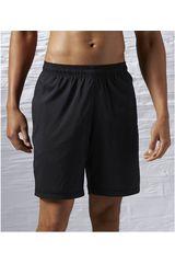 Reebok Negro de Hombre modelo EL SFT POLY SHRT Deportivo Shorts