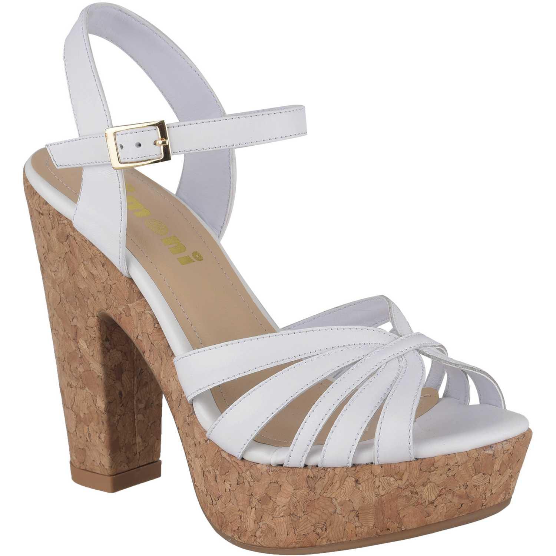 Sandalia Plataforma de Mujer Limoni - Cuero Blanco sp madyson3