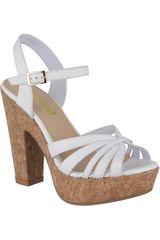 Limoni - Cuero Blanco de Mujer modelo SP MADYSON3 Plataformas Sandalias Tacos