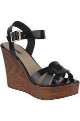 Limoni - Cuero Negro de Mujer modelo SPW SELENA03 Sandalias Plataformas Cuña