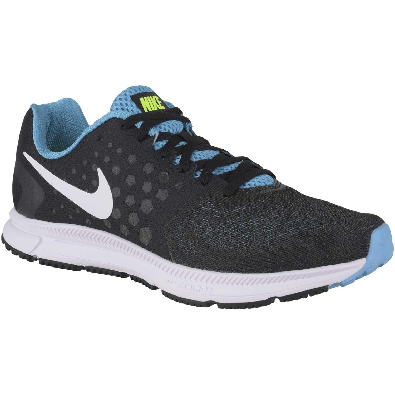 Nike Negro / Celeste de Hombre modelo ZOOM SPAN Running Deportivo Zapatillas