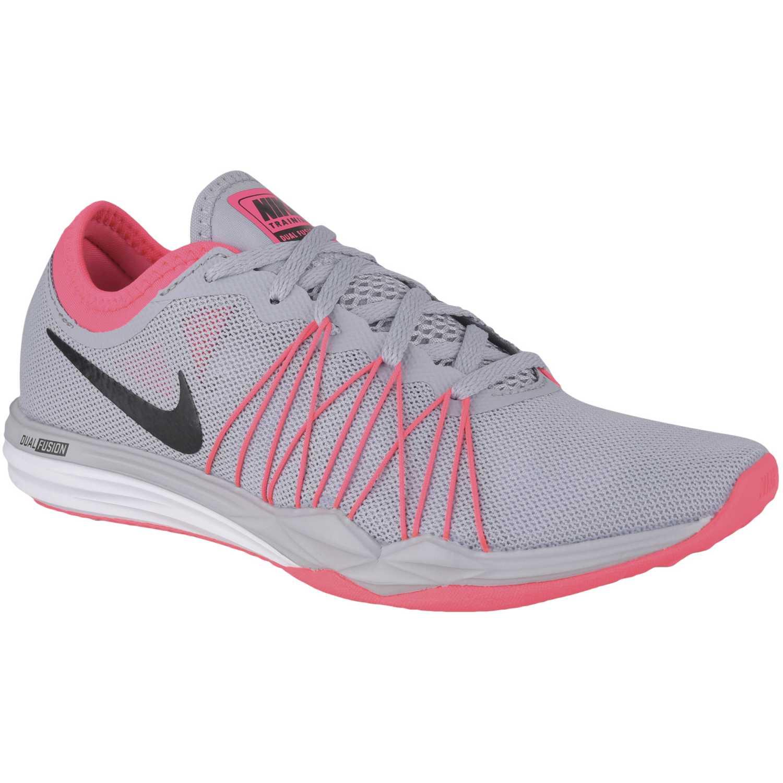 520af6e51cb6 Zapatilla de Mujer Nike Gris   rosado wmns dual fusion tr hit ...
