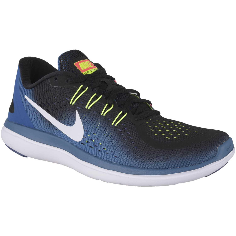 finest selection 9774e 4fc57 Zapatilla de Hombre Nike Negro  azul flex 2017 rn