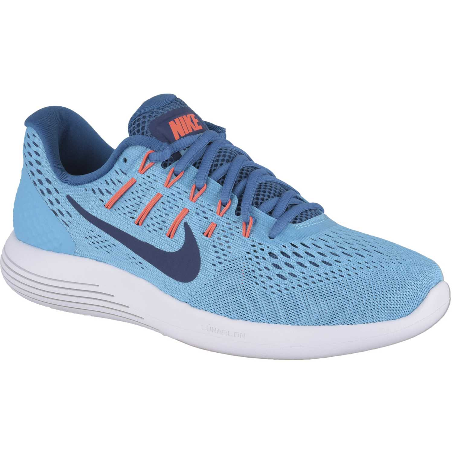 sports shoes 11d61 a59be Zapatilla de Hombre Nike Celeste   blanco lunarglide 8