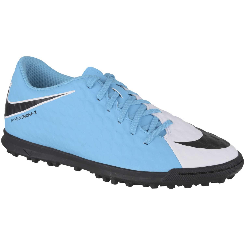 Zapatilla de Hombre Nike Celeste   Negro hypervenomx phade iii tf ... 419b48529fdf5