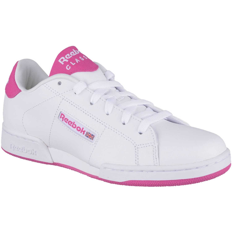6e566110df683 Zapatilla de Jovencita Reebok Blanco   rosado npc ii