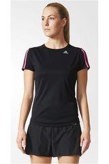 adidas Negro / Fucsia de Mujer modelo OZ TEE W Camisetas Deportivo