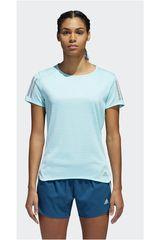 adidas Celeste / Gris de Mujer modelo RS SS TEE W Deportivo Camisetas