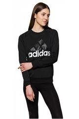 adidas Negro / Blanco de Mujer modelo ESS LIN SWEAT Deportivo Poleras
