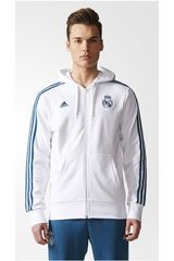 adidas Blanco / Turquesa de Hombre modelo REAL 3S FZ HD Deportivo Casacas