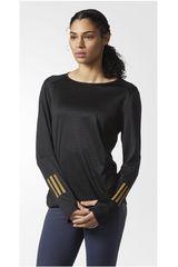 Polo de Mujer Adidas RS LS TEE W Negro / dorado