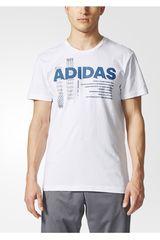 adidas Blanco / Azul de Hombre modelo LINEAGE Deportivo Polos