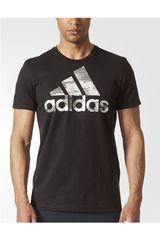 adidas Negro / Blanco de Hombre modelo BOS FOIL Polos Deportivo Camisetas