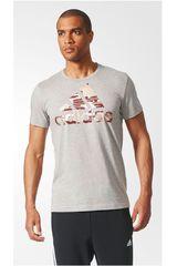 adidas Gris / Rojo de Hombre modelo BOS FOIL Polos Deportivo Camisetas