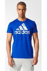 adidas Azulino / Blanco de Hombre modelo BOS FOIL Polos Deportivo Camisetas