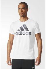 adidas Blanco / Negro de Hombre modelo BOS FOIL Polos Deportivo Camisetas