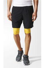 adidas Negro / Amarillo de Hombre modelo SPEED BR SH2IN1 Shorts Deportivo