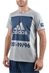 adidas Gris / Azul de Hombre modelo OVERBRANDING Deportivo Polos