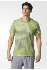 adidas Gris / Amarillo de Hombre modelo RS PRINT SS TEE Polos Deportivo Camisetas