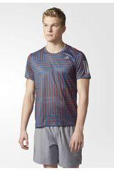 adidas Celeste / Naranja de Hombre modelo RS PRINT SS TEE Polos Deportivo Camisetas