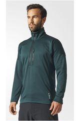 adidas Verde de Hombre modelo TIVID 1/2FLEECE Deportivo Poleras