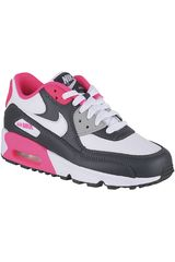 Nike Blanco / Negro de Niña modelo AIR MAX 90 LTR GP Urban Zapatillas Walking Deportivo Casual