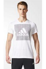 adidas Blanco / Gris de Hombre modelo BOS KNITTED Deportivo Polos