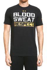 Under Armour Negro / Blanco de Hombre modelo ROCK BLOOD SWEAT RESPECT SS Deportivo Polos