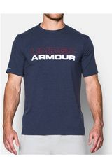 Under Armour Acero / Blanco de Hombre modelo UA COTTON WORDMARK STACK Deportivo Polos