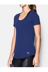 Under Armour Azul / Blanco de Mujer modelo THREADBORNE RUN SHORT SLEEVE Deportivo Polos