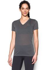 Under Armour Plomo / Gris de Mujer modelo THREADBORNE TRAIN SSV POINT Deportivo Polos