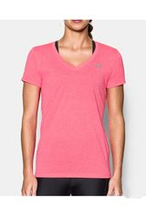 Under Armour Rosado / Plomo de Mujer modelo THREADBORNE TRAIN SSV TWIST Deportivo Polos