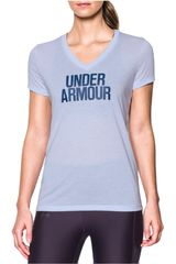Under Armour Celeste / Azul de Mujer modelo THREADBORNE TRAIN WM V TWIST Deportivo Polos