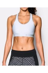 Under Armour Blanco / Plateado de Mujer modelo ARMOUR MID SOLID Deportivo Tops