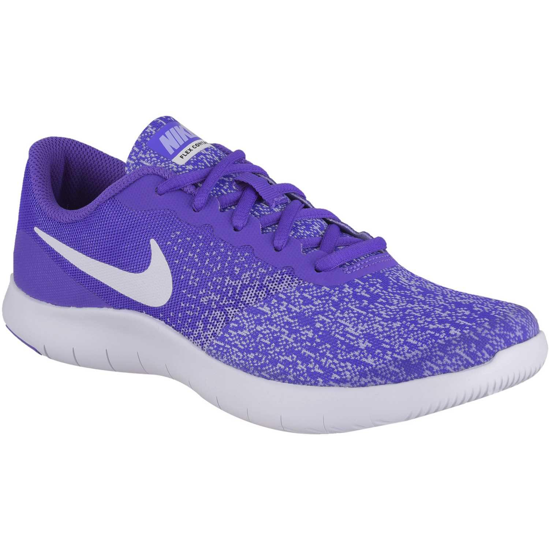 Zapatilla de Jovencita Nike Morado / blanco flex contact gg