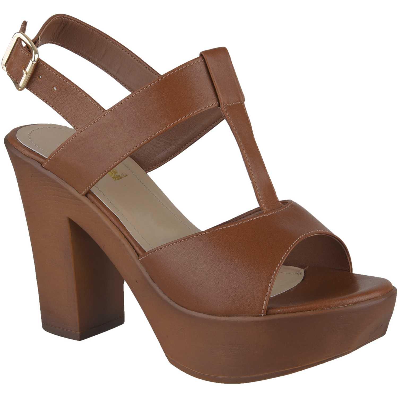 Sandalia Plataforma de Mujer Limoni - Cuero Camel sp 2718102