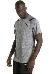 Puma Gris / Negro de Hombre modelo BONDED TECH SS TEE Deportivo Polos