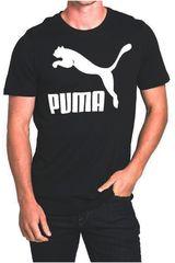 Puma Negro / Blanco de Hombre modelo ARCHIVE LOGO TEE PRINT Deportivo Polos