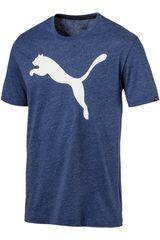 Puma Azul / Blanco de Hombre modelo ESS BIG CAT HEATHER TEE Deportivo Polos